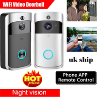 2019 Hot Wireless WiFi DoorBell Smart Video Phone Door Visual Ring Intercom Secure Camera HD With App Remote control US Stock