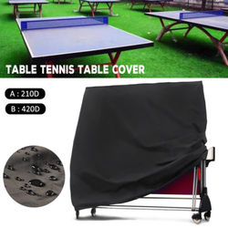 Stół do tenisa stołowego do przechowywania pokrycie wewnętrzne/stół do tenisa do użytku na zewnątrz arkusz wodoodporny w Uniwersalne pokrowce od Dom i ogród na