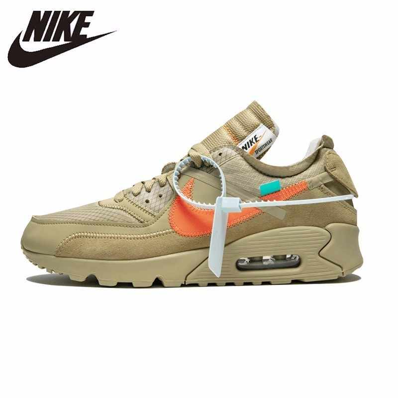 9e37baa856 Nike Air Max 90 Ow Original New Arrival Men Running Shoes Comfortable  Anti-slippery Sports