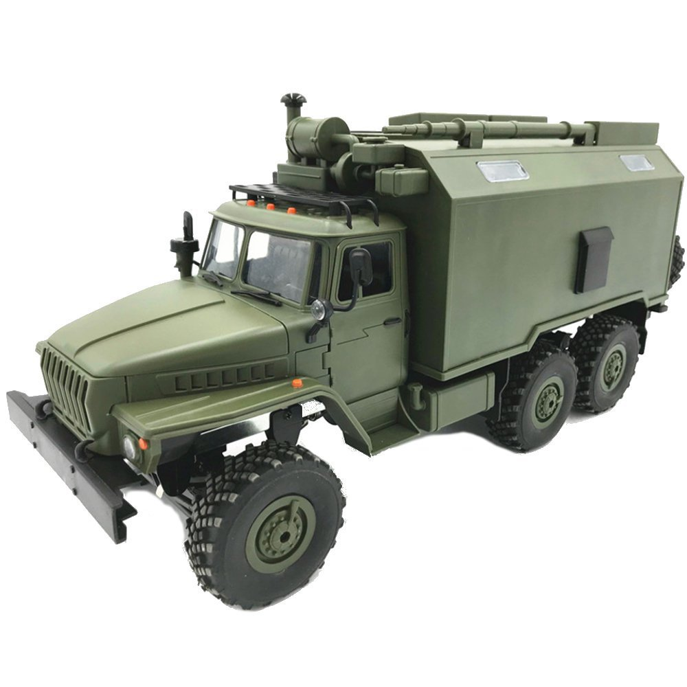 Wpl B36 Ural 1/16 2.4g 6wd Rc voiture militaire camion roche chenille commande Communication véhicule Rtr jouet Auto armée camions enfants cadeau
