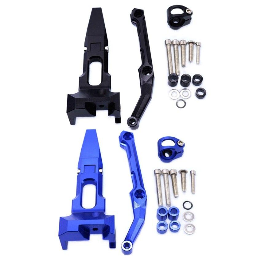 Adjustable Steering Damper Stabilizer Mounting Bracket Kit For Yamaha Tracer  900 FJ-09 MT-09 Tracer 2015 2016 2017Adjustable Steering Damper Stabilizer Mounting Bracket Kit For Yamaha Tracer  900 FJ-09 MT-09 Tracer 2015 2016 2017