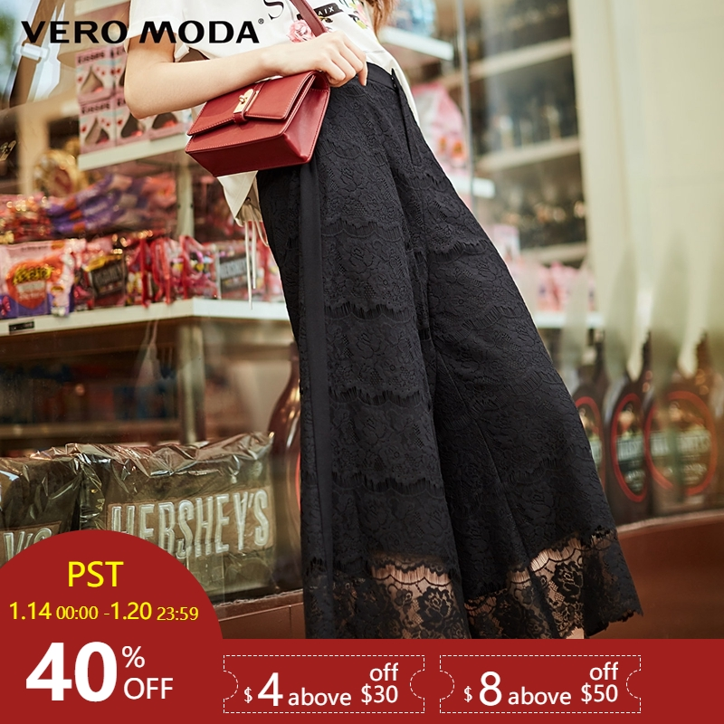 Vero Moda Lace Wide-leg   Capri     Pants  |31816J519