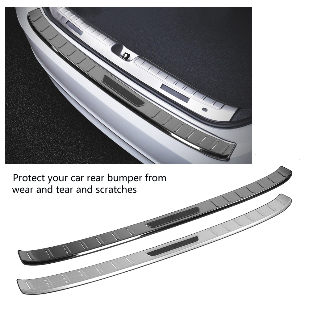 1pc Rear Door Bumper Foot Plate Cover Trim Protector Sticker for Honda Accord 2018 Car Styling with Logo Stainless Steel