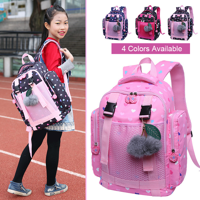 Sweet Cat Girl's School Shoulder Bags Cartoon Pattern Kid Girl Bag Female Backpack Children School Backpack Girl Bag 2019