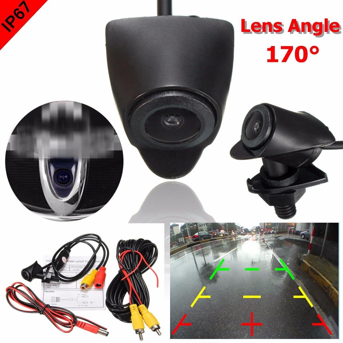 Otomobiller ve Motosikletler'ten Araç Kamerası'de 170 geniş derece Logo için gömülü Toyota gece görüş CCD araba ön gerçek görüş kamerası Lens su geçirmez title=