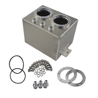 3l Dual Billet Aluminum Fuel Surge Tank Vice Tank For with twin / dual 044 Fuel Pumps For Drift Racing