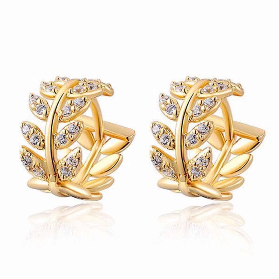 Trendy Silver Gold Leaves Ear Stud Earring For Women Girl Wedding Jewelry Party Gift Shellhard Geometric Metal Earring Brincos