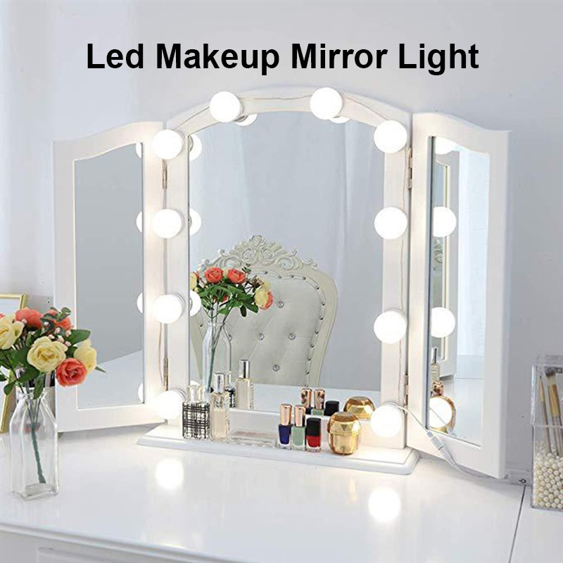 Dressing Table Lamps LED Makeup Mirror Light Bulbs Hollywood Vanity Lights Stepless Dimmable Lamp Vanity Lights KitDressing Table Lamps LED Makeup Mirror Light Bulbs Hollywood Vanity Lights Stepless Dimmable Lamp Vanity Lights Kit