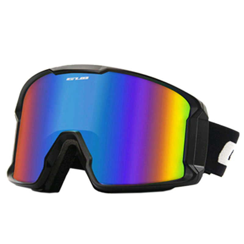 GUB S8000 Ski Goggles Adult Double-layer Anti-fog Men And Women Large Spherical Ski Warm Glasses Single And Double Board Cocoa
