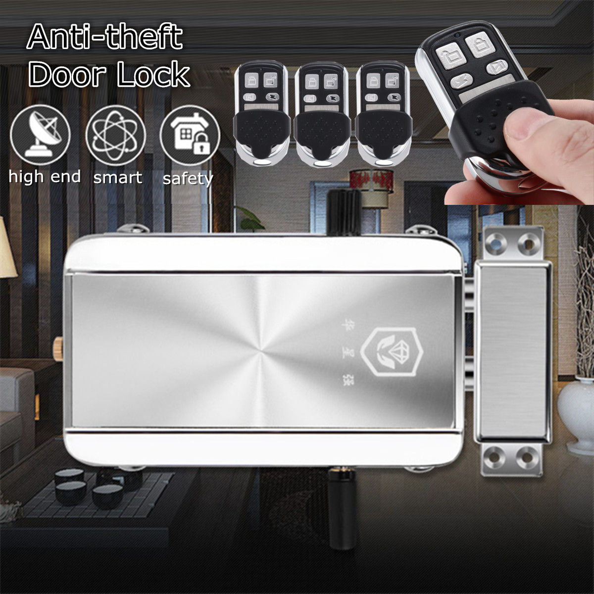 Electronic Remote Control Door Lock Wireless Anti-theft Access Lock Set Automation Intelligence Home Hotel Security SystemElectronic Remote Control Door Lock Wireless Anti-theft Access Lock Set Automation Intelligence Home Hotel Security System