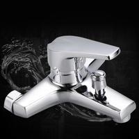 Bathtub Shower Faucet Mixer Valve Control Water Taps Waterfall Shower Head 210*190*40mm