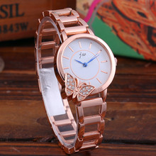 New Fashion Women Watches Bracelet Quartz Clock Ladies Wristwatches Diamond Butterfly Steel Watch