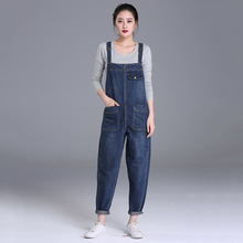 цена Boyfriend Jeans For Women Pockets Denim Jumpsuits  Full Length Pants Women Harem Jeans Overalls Loose Rompers Plus Size 6XL в интернет-магазинах