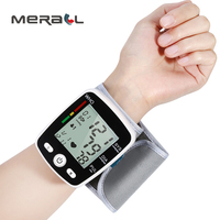 Blood Pressure Monitor Automatic Voice Wrist Digital Tonometer USB Charge Oximeter LCD Display Black Measuring Health Care Tools