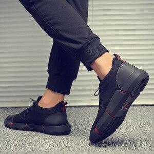Image 5 - Upuper todos os sapatos casuais masculinos de couro preto plana rendas até moda masculina tênis respirável ao ar livre sapatos de inverno