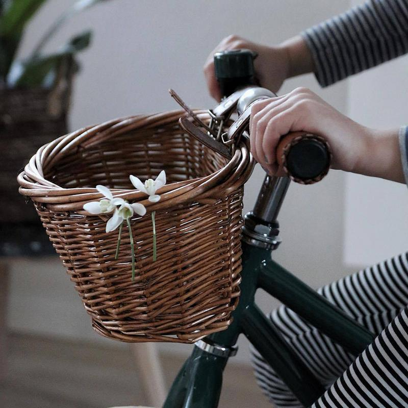 Cycling Bicycle Basket Multi-function Children Retro Rattan Basket 16 Inch Bicycle Balance Basket Good Quality Fast Delivery