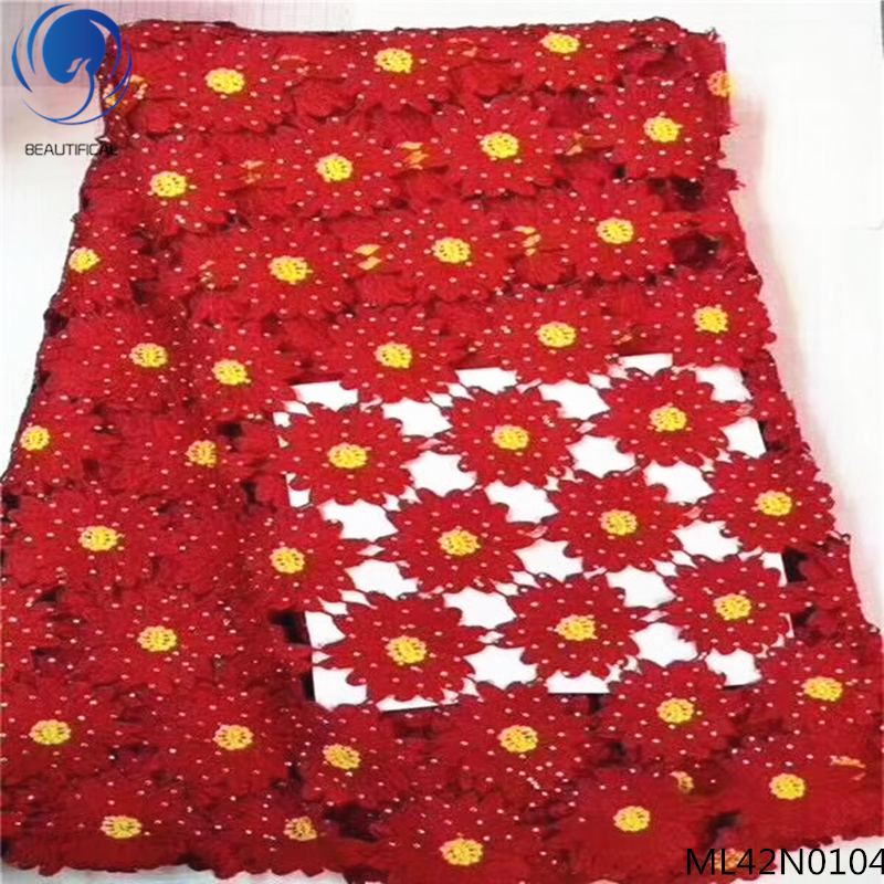 Apparel Sewing & Fabric Home & Garden Beautifical African Net Laces Fabrics With Rhinestone 2019 High Quality Lace Fabrics For Bridal Dresses 5yards/lot Ml42n01 Nourishing Blood And Adjusting Spirit
