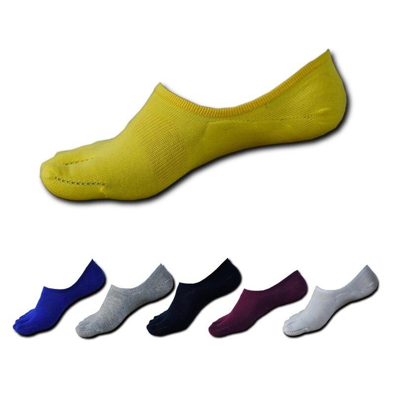 6 colour New summer casual toe   socks   for men all-cotton five finger   socks   for men invisible   socks   for men ankle   socks