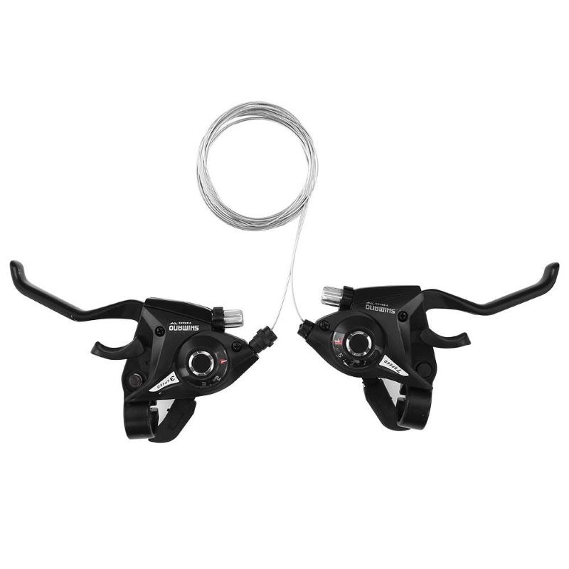1Pair 21/24 Speed Bicycle Shifter Brake Conjoined Derailleurs Mountain Road Bike Cycling Disc Handle Shifter Levers For MTB