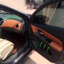 Chevrolet Classic Cruze 2009 2015 용 마이크로 화이버 가죽 인테리어 카 스타일링 도어 암 레스트/센터 대시 보드 패널 커버 트림