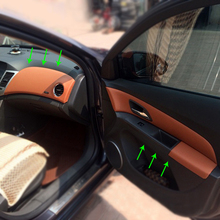 Reposabrazos de microfibra para puerta Interior de coche, cubiertas de molduras para Panel de centro de salpicadero, para Chevrolet Cruze Classic 2013 2019