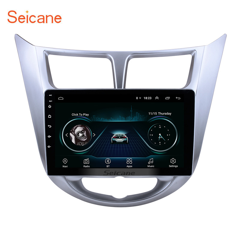 Seicane Quad-core Android 8.1 2din 9 Inch Car DVD Multimedia GPS For Hyundai Verna 2011 2012 2013 Support WiFi Can-Bus BluetoothSeicane Quad-core Android 8.1 2din 9 Inch Car DVD Multimedia GPS For Hyundai Verna 2011 2012 2013 Support WiFi Can-Bus Bluetooth