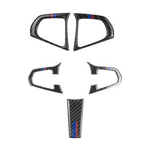 Image 1 - BMW 5 시리즈 G30 G38 X3 G01 G08 2PCS/3PCS 탄소 섬유 스티어링 휠 스위치 버튼 커버
