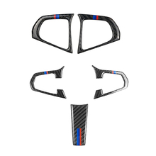 สำหรับ BMW 5 Series G30 G38 X3 G01 G08 2PCS/3PCS คาร์บอนไฟเบอร์พวงมาลัยปุ่มสวิทช์ฝาครอบ