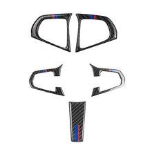 Para BMW serie 5 G30 G38 X3 G01 G08 2 uds/3 Uds de fibra de carbono volante cubierta de botón de interruptor