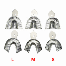 2pcs/pair Dental Impression Stainless Steel Teeth Holders Denture Model Materials Teeth Tray Oral Hygiene Dental Lab Tools 6pcs set dental impression stainless steel autoclavable denture instrument teeth tray oral hygiene tooth tray dental lab tools