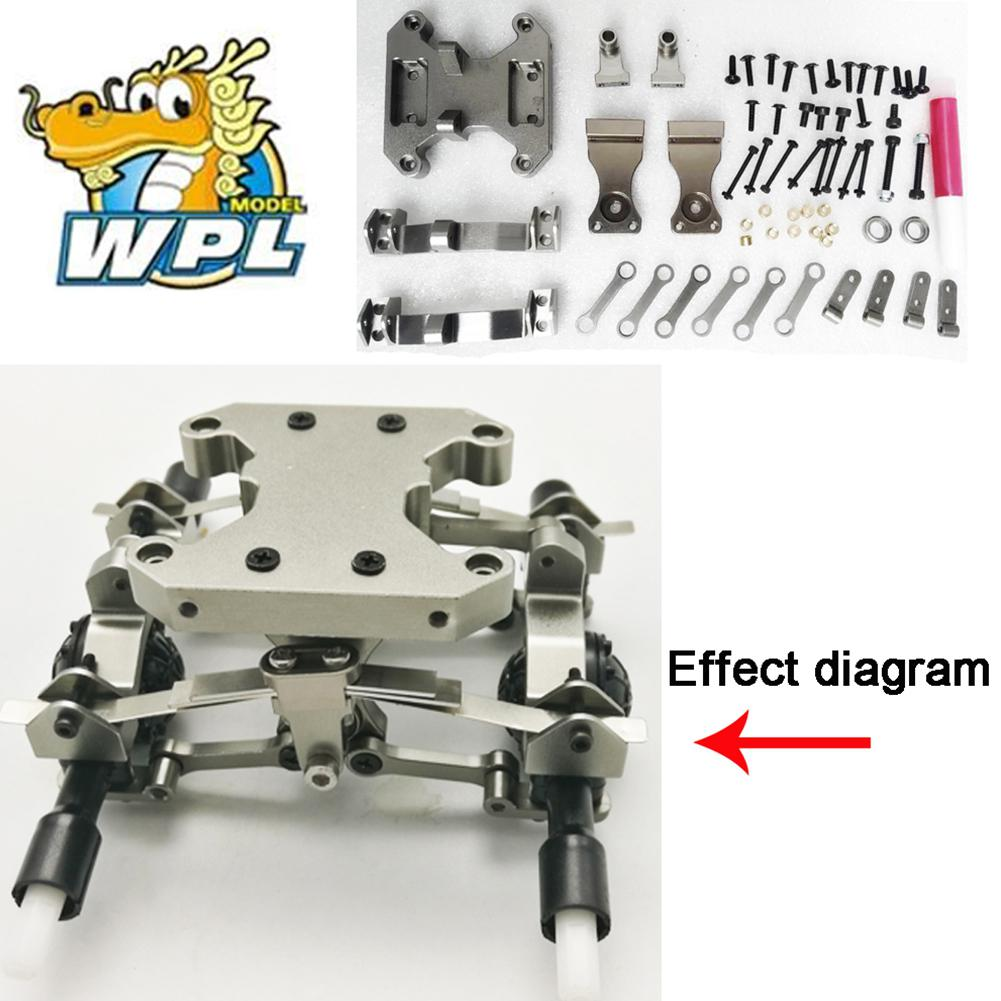 LeadingStar 1:16 Metal Chassis Accessories DIY Upgrade Modified Metal Parts for WPL B16 B36 Ural Truck RC CAR