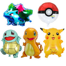 1Pcs/lot Pokemon Go Theme Aluminum Foil Balloon Baby Shower Boys Birthday Party Decoration Wedding Colorful Balloon Supply(China)