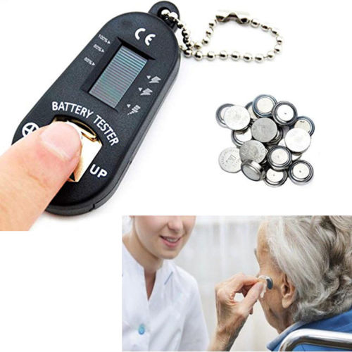 Tester Electric Measuring Apparatus Hearing Aid Batteries Checker LCD Screen