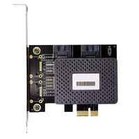 6 Гбит/с Pci Express Pcie Pci-E до 2 портов Sata 3,0 порты Контроллер Расширения Riser Post Card Adapter