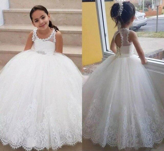 יפה תחרה חמוד כדור שמלת ילדה פרח שמלות ילדים נסיכת שמלות מסיבת חג חתונת טוטו ראשית הקודש שמלות