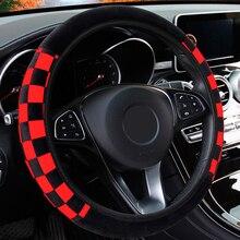 LEEPEE pluszowa tkanina dekoracja samochodu osłona na kierownicę do samochodu Auto pokrowce na kierownice średnica 38cm akcesoria samochodowe uniwersalne