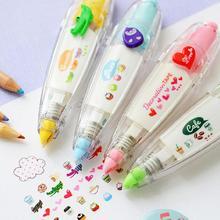 Каваи пресс тип милые канцелярские декоративные ленты ручка коррекция ленты дневник в стиле Скрапбукинг Канцелярские Принадлежности для альбома инструменты школьные принадлежности