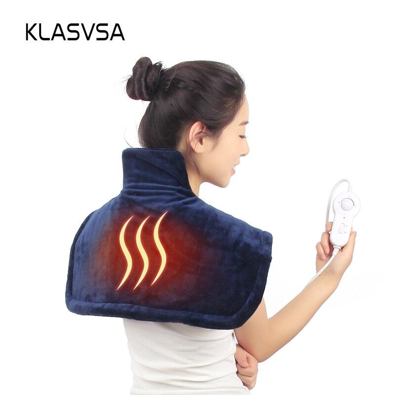 KLASVSA Electric Warm Shoulder Heating Brace Support Neck Pad Cervical Physical Therapy Spine For Back Posture
