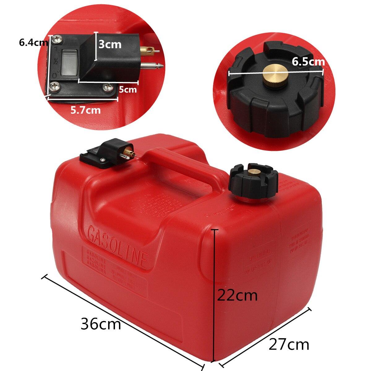 Boîte à huile extérieure Marine de réservoir de carburant de moteur de Yacht de bateau de 12L Portable avec le plastique rouge de connecteur Anti-statique résistant à la Corrosion - 2