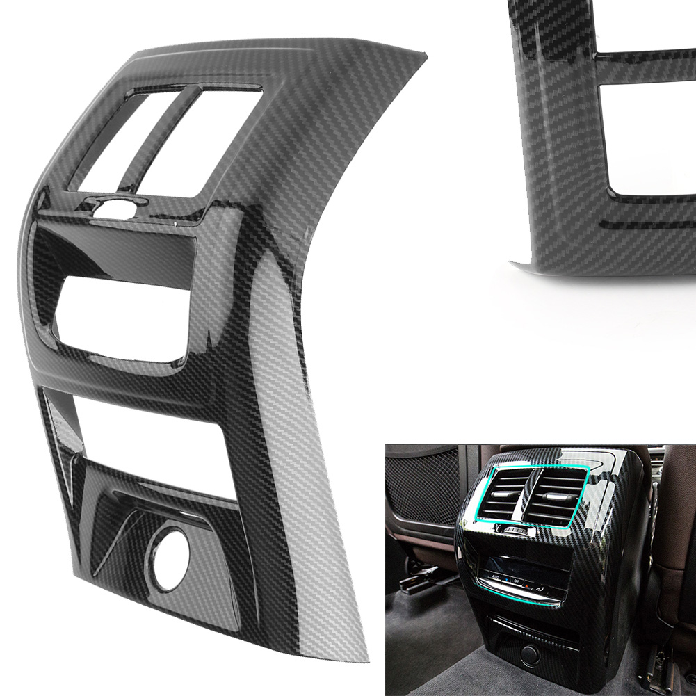 ABS Rear Interior Air Vent Outlet Cover Trim For <font><b>BMW</b></font> <font><b>X3</b></font> <font><b>G01</b></font> 2018 <font><b>Carbon</b></font> Fiber Black image