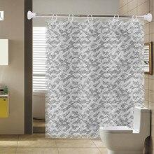 50-80 см многофункциональная выдвижная штанга из нержавеющей стали с 6 Крючки ПВХ для занавески для ванной комнаты