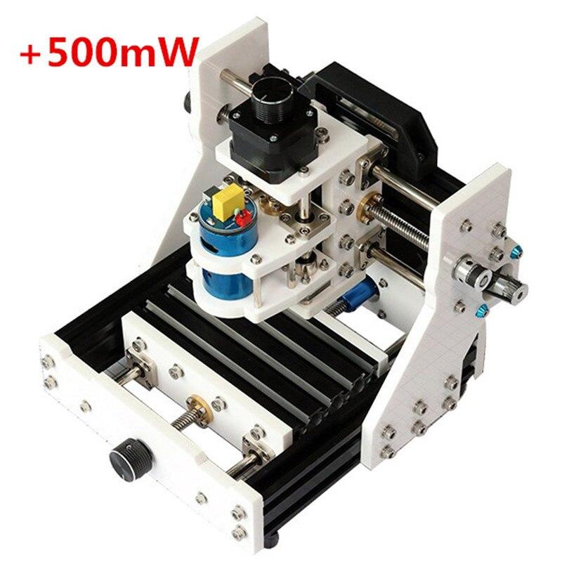 EleksMill 3 Axes graveur CNC Micro gravure sur bois fraiseuse w/500 mW Module Laser USB bureau bricolage PCB fraisage Laser Kit