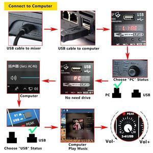 Image 3 - האיחוד האירופי Plug A4 קול ערבוב קונסולת Bluetooth Usb מחשב שיא השמעה 48V פנטום כוח עיכוב Repaeat אפקט 4 ערוצים usb