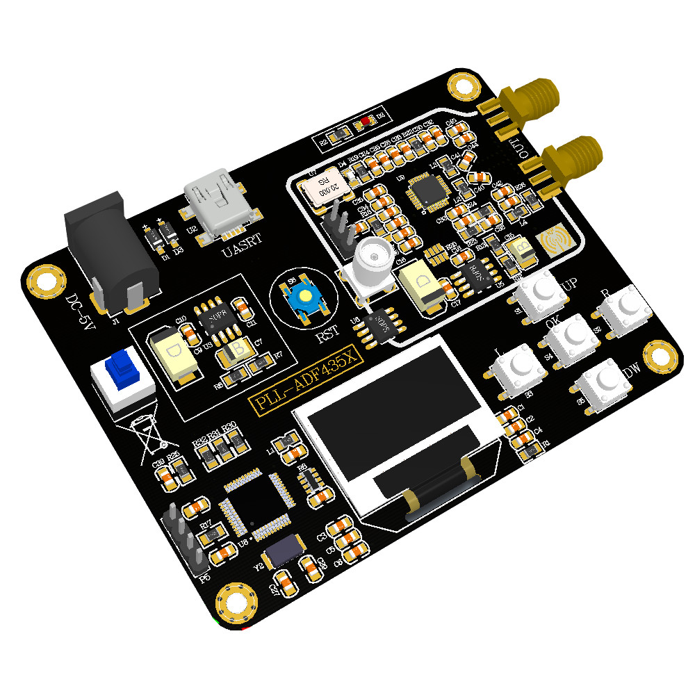 LEORY Signal Generator Module 35M-4.4GHz RF Signal Source Frequency Synthesizer ADF4351 Development Board Circuit