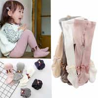 YWHUANSEN 0-6 Ans Enfants Printemps Automne Hiver Bowknot Collants Coton Bébé Filles Collants Enfants Infantile Tricoté Collant Collants