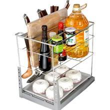 Pantry Cucina Alacena Organizador Cocina Stainless Steel Rack Cuisine Organizer Kitchen Cabinet Cestas Para Organizar Basket