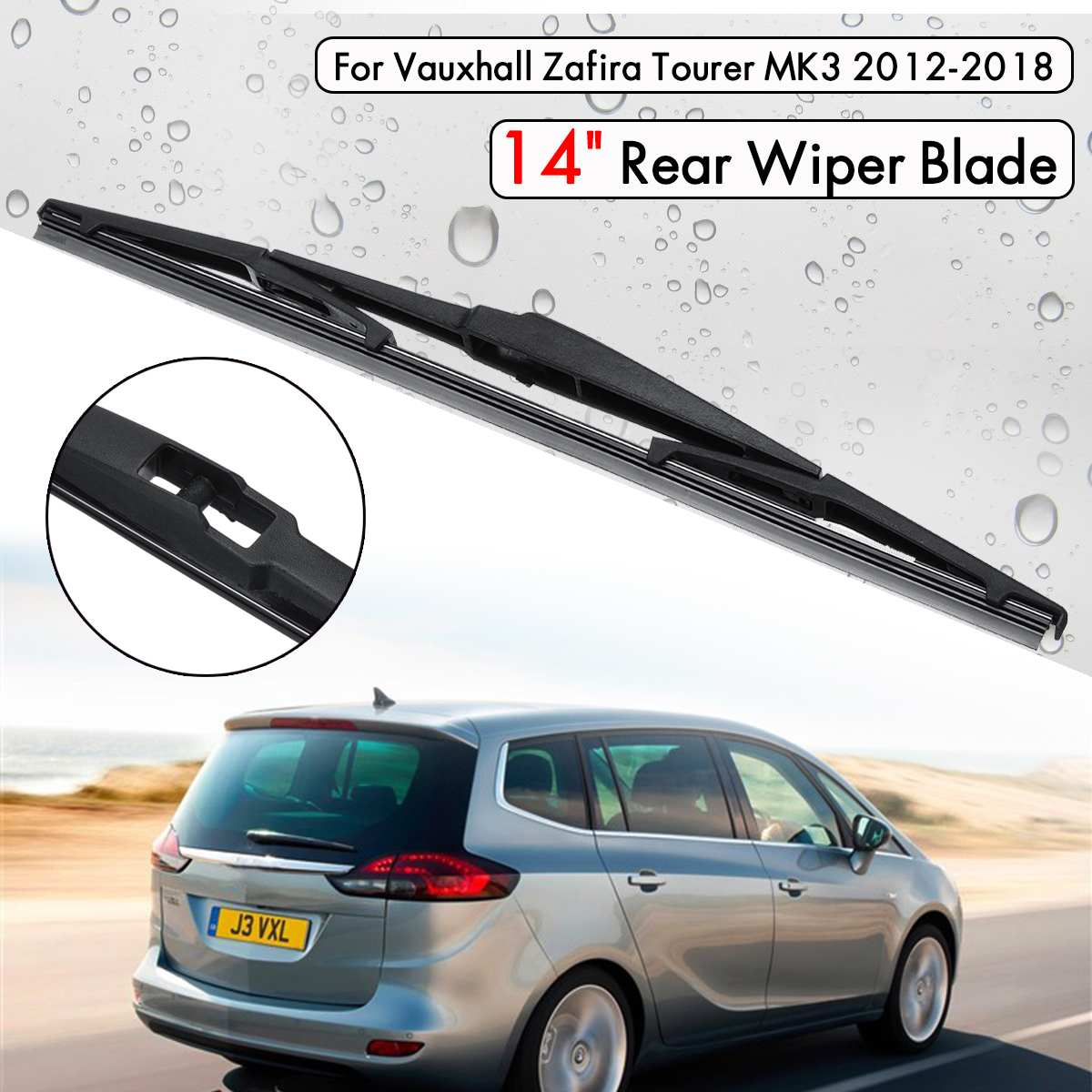 Custom Rubber Car Mats to fit Vauxhall Zafira C Tourer 7 Seater 2012-present