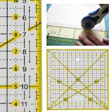 DIY Sewing Patchwork Tools Square Quilting Ruler Sewing Ruler Tailor Cutting Ruler Gadget for Home & Living 15*15CM quilting ruler acrylic quilters ruler non slip rings patchwork ruler diy sewing patchwork tool