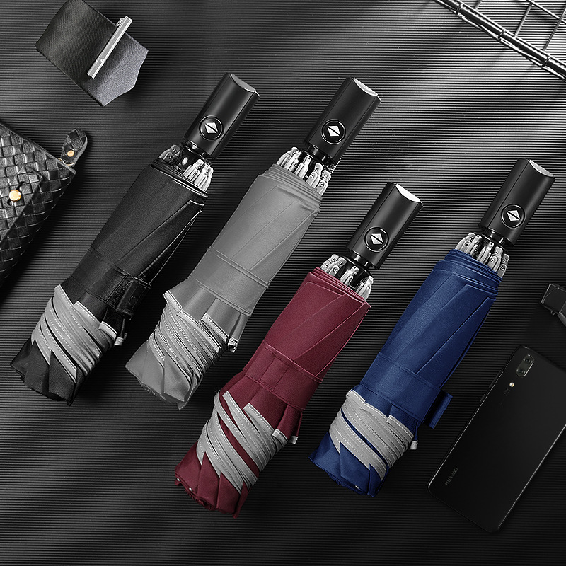 Big Reverse Strong Umbrella Women Men Rain Gear Windproof Black Folding Female Male Automatic Umbrella Guarda Chuva Sunshade