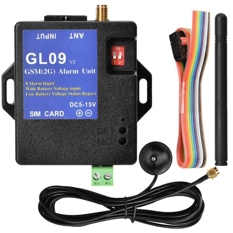 GL09 8 Channel Battery Operated App Control GSM Alarm Systems SMS Alert Security System